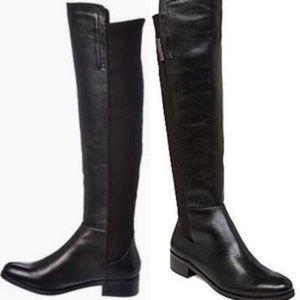 Vince Camuto VC-Kellis black leather Knee Boots